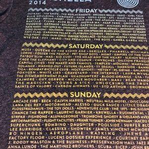 Coachella Tops - Coachella 2014 Double-Sided Full Band List T-shirt